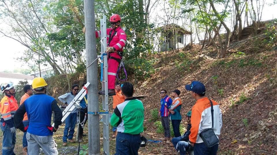 Pelatihan Tenaga Kerja Bangunan Tinggi Tingkat 2 untuk PLN di Semarang, 18-19 September 2017