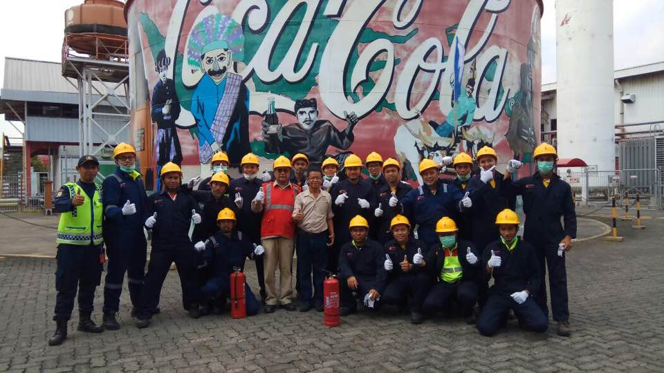 Pelatihan Petugas Kebakaran Kelas D Inhouse PT. Coca Cola Amatil Indonesia, 18 s.d 19 September 2017