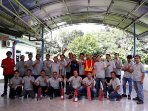 Pelatihan Petugas Kebakaran Kelas D (Fire D) Inhouse PT Mattel Indonesia, 25 s.d 27 April 2018
