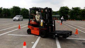 Pelatihan K3 Operator Forklift Inhouse PT Yamaha Music, 17 November 2018
