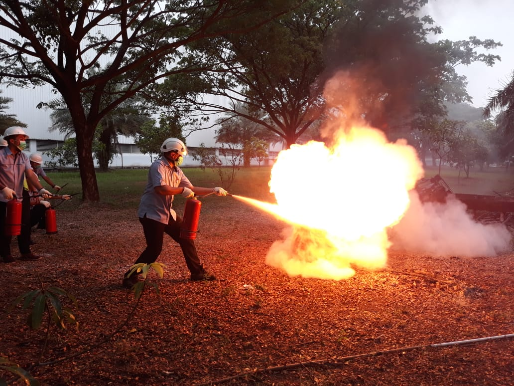 Pelatihan Petugas Kebakaran Kelas D (Fire D) Inhouse PT Unilever Indonesia, 21 s.d 22 November 2018