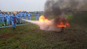 Pelatihan Petugas Kebakaran Kelas D (Fire D) Inhouse PT JFE Steel Galvanizing, 28 s.d 29 November 2018