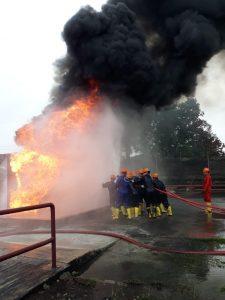 Pelatihan Fire D dan C, Sertifikasi Kemnakertrans RI Inhouse PT Indorama Cilegon, 21 s.d 29 November 2018