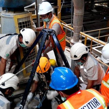 Pelatihan Petugas K3 Utama (Confined Space) Inhouse PT Clariant Adsorbents Indonesia, 14-18 Januari 2019