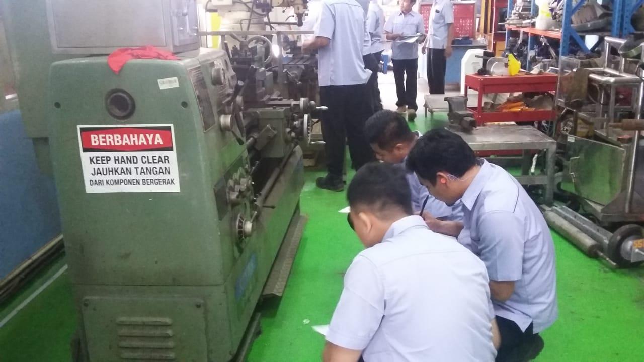 Pelatihan K3 Teknisi Mesin Produksi Inhouse PT Unilever Indonesia, 25 s.d 27 Maret 2019