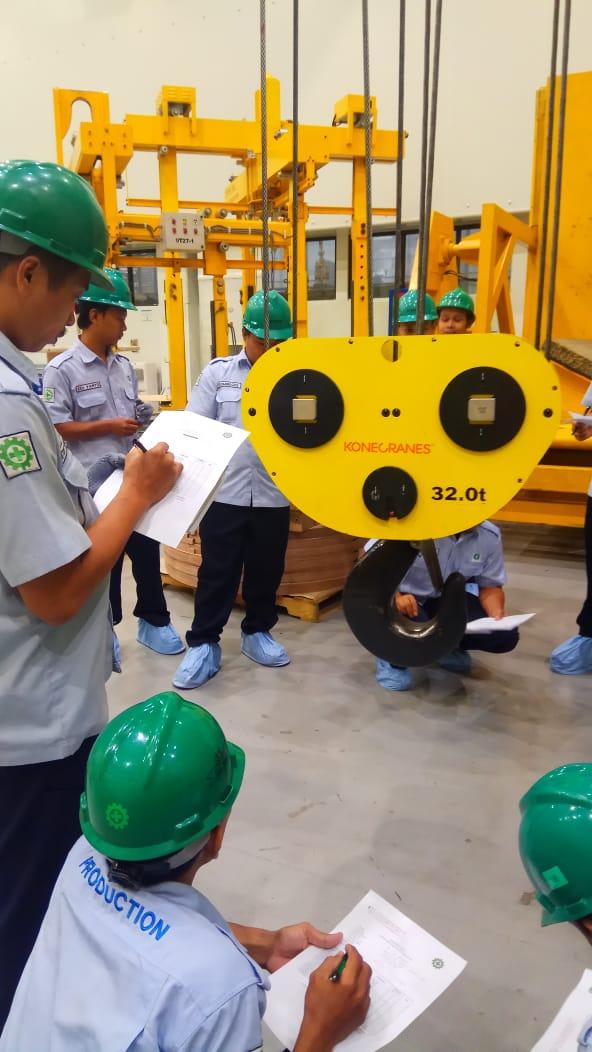 Pelatihan K3 Operator Crane Kelas 2 Inhouse PT CG Power System, 11 s.d 14 Maret 2019